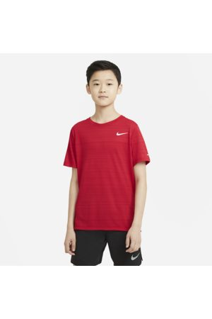 Nike Dri-FIT Miler Older Kids' (Boys') Training Top - Red