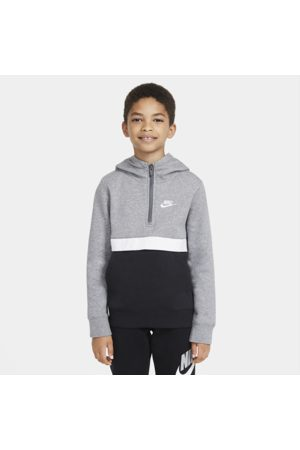 Nike Sportswear Club Older Kids' (Boys') 1/2-Zip Hoodie - Grey