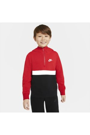 Nike Sportswear Club Older Kids' (Boys') 1/2-Zip Hoodie - Red