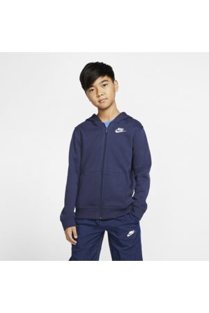 Nike Sportswear Club Older Kids' Full-Zip Hoodie - Blue