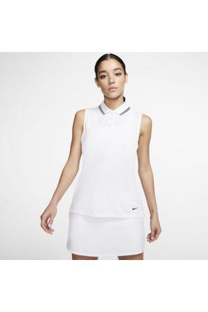 Nike Dri-FIT Victory Women's Sleeveless Golf Polo - White
