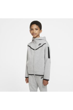 Nike Sportswear Tech Fleece Older Kids' (Boys') Full-Zip Hoodie - Grey