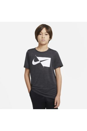 Nike Older Kids' (Boys') Short-Sleeve Training Top - Black