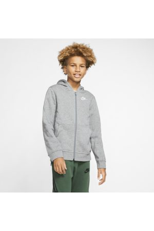 Nike Sportswear Club Older Kids' Full-Zip Hoodie - Grey