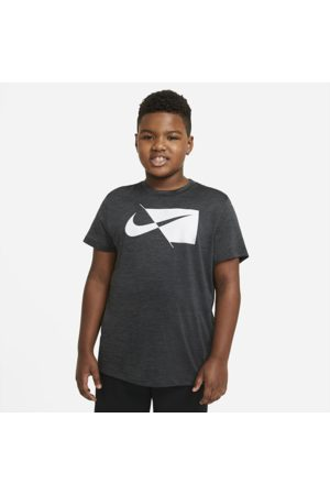 Nike Older Kids' (Boys') Short-Sleeve Training Top (Extended Size) - Black