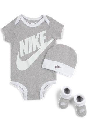 Nike Baby (0–6M) 3-Piece Set - Grey