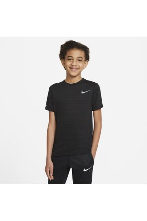 Nike Dri-FIT Miler Older Kids' (Boys') Training Top - Black