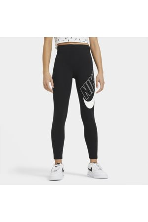 Nike Sportswear Favourites Older Kids' (Girls') Graphic Leggings - Black