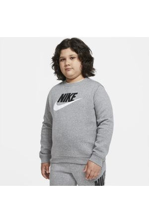 Nike Sportswear Club Fleece Older Kids' (Boys') Crew (Extended Size) - Grey