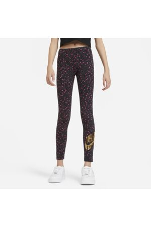 Nike Sportswear Older Kids' (Girls') Printed Leggings - Grey