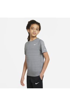 Nike Dri-FIT Miler Older Kids' (Boys') Training Top - Grey
