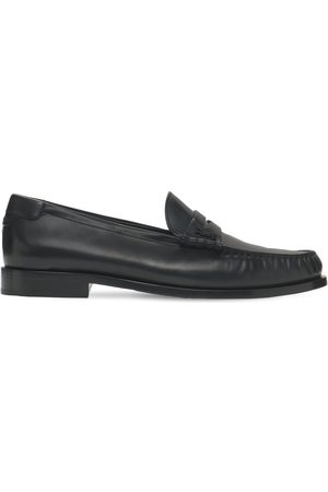 SAINT LAURENT Miehet Loaferit - Monogram Penny Leather Loafers