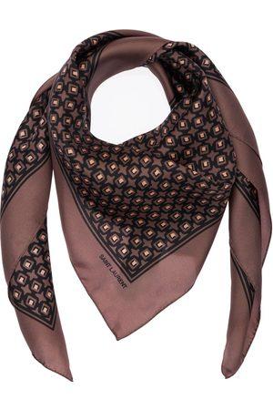 Saint Laurent Cubique Silk Scarf
