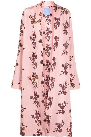 Macgraw Naiset Kylpytakit - St Peters floral-print silk robe