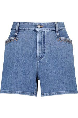Chloé High-rise denim shorts