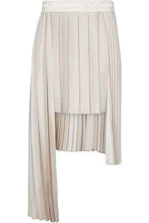 Peter Do Pleated asymmetric midi skirt