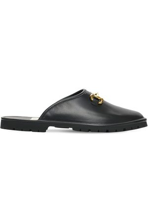 Gucci Miehet Tohvelit - Horsebit Leather Slippers