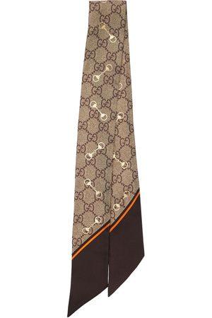Gucci Gg Print Silk Neck Bow