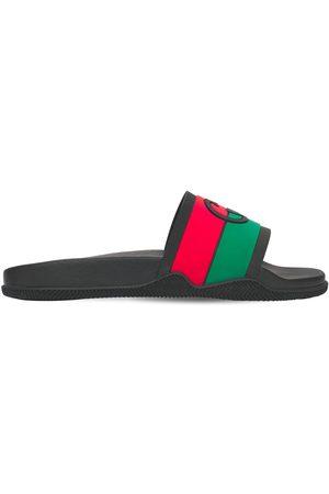 Gucci Miehet Sandaalit - Interlocking G Rubber Slide Sandals