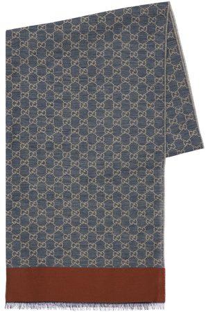Gucci Gg Jacquard Cotton Stole