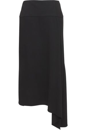 Jil Sander Naiset Midihameet - Viscose & Silk Cady Stretch Midi Skirt
