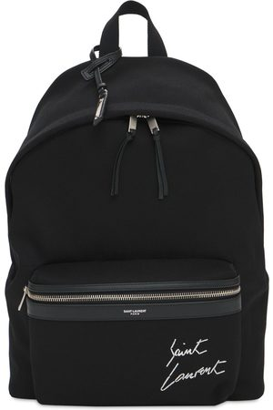 Saint Laurent Miehet Reput - Logo Embroidery Cotton Canvas Backpack