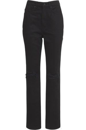 Alexander Wang High Waist Distressed Denim Jeans