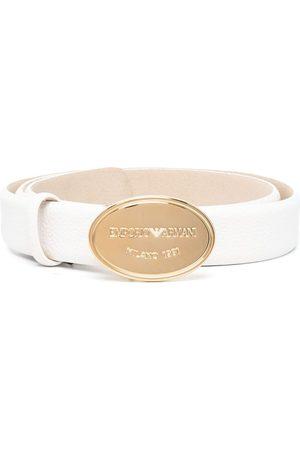Emporio Armani Engraved-logo buckle belt