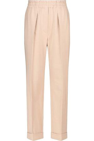 Brunello Cucinelli Pleated stretch-cotton sweatpants