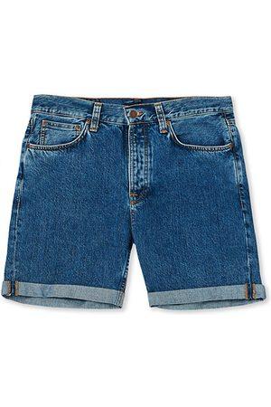 Nudie Jeans Miehet Farkkushortsit - Josh Stretch Denim Shorts Friendly Blue