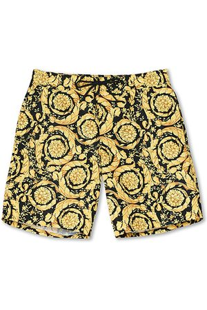 VERSACE Miehet Uimashortsit - Barocco Swim Trunks Black/Gold