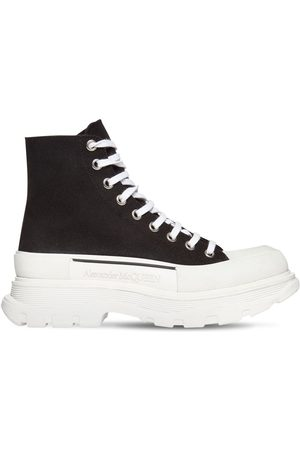 Alexander McQueen 50mm High-top Cotton Canvas Sneakers