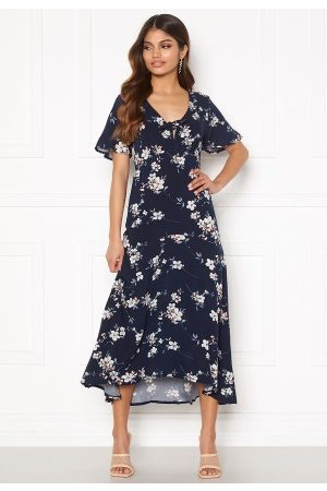 Happy Holly Therese dress Dark blue / Floral 40