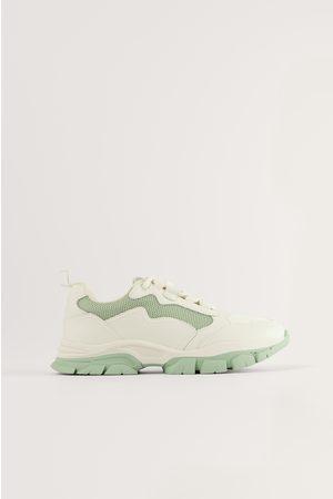 NA-KD Low Trekking Sneakers - Green