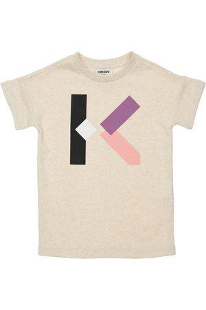 Kenzo Tytöt Printtimekot - Logo Print Cotton Dress
