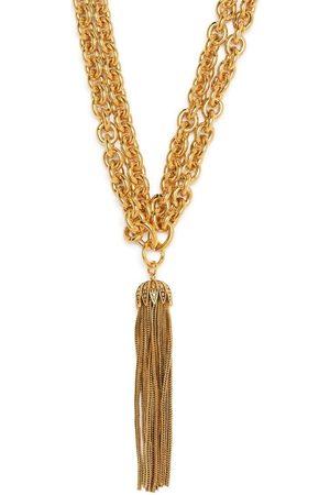 Saint Laurent Tassel-pendant necklace