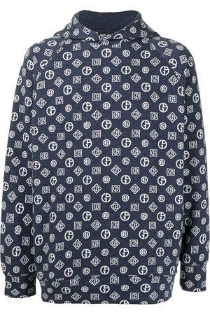 Armani Monogram denim hoodie