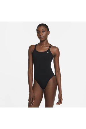 Nike HydraStrong Solid Women's Spiderback 1-Piece Swimsuit - Black