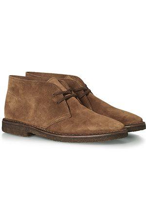 Drake's Miehet Nilkkurit - Clifford Suede Desert Boots Light Brown