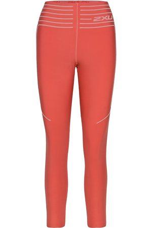 2XU Naiset Leggingsit - No Distraction Hi-Rise Compre Running/training Tights Vaaleanpunainen