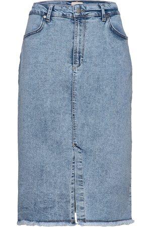 Minus Marina Denim Skirt Polvipituinen Hame
