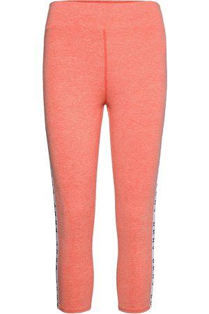 DKNY Naiset Leggingsit - Dkny Technical Jersey Crop Sleep Legg. Leggingsit Vaaleanpunainen