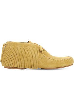 Loewe Miehet Tennarit - Fringed High Top Suede Loafers