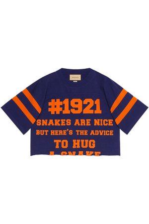 Gucci Naiset T-paidat - 1921 L'Aveugle Par Amour cropped T-shirt
