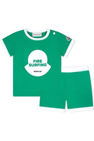 Moncler Fire surfing tracksuit-shorts set