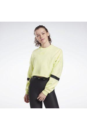 Reebok Studio Cropped French Terry Crew Sweatshirt