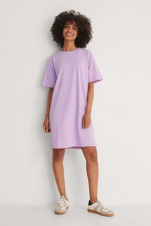 NA-KD Naiset Rennot Mekot - Orgaaninen Boxy T-paitamekko - Purple