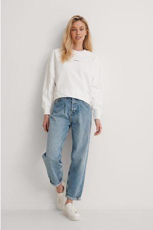 Calvin Klein Collegepaita, Brändi Pienellä Tekstillä - White
