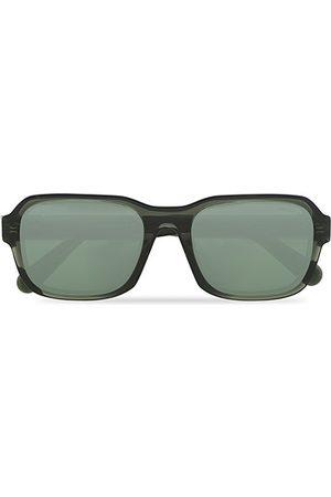 Moncler Lunettes Miehet Aurinkolasit - Icebridge Sunglasses Shiny Dark Green/Green Mirror