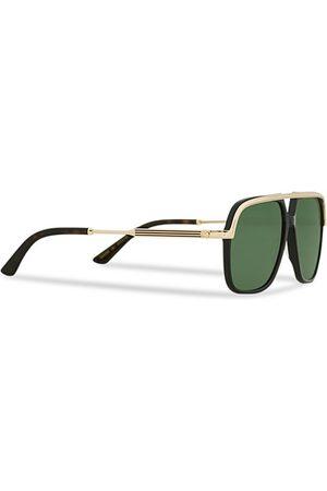 Gucci GG0200S Sunglasses Black/Gold